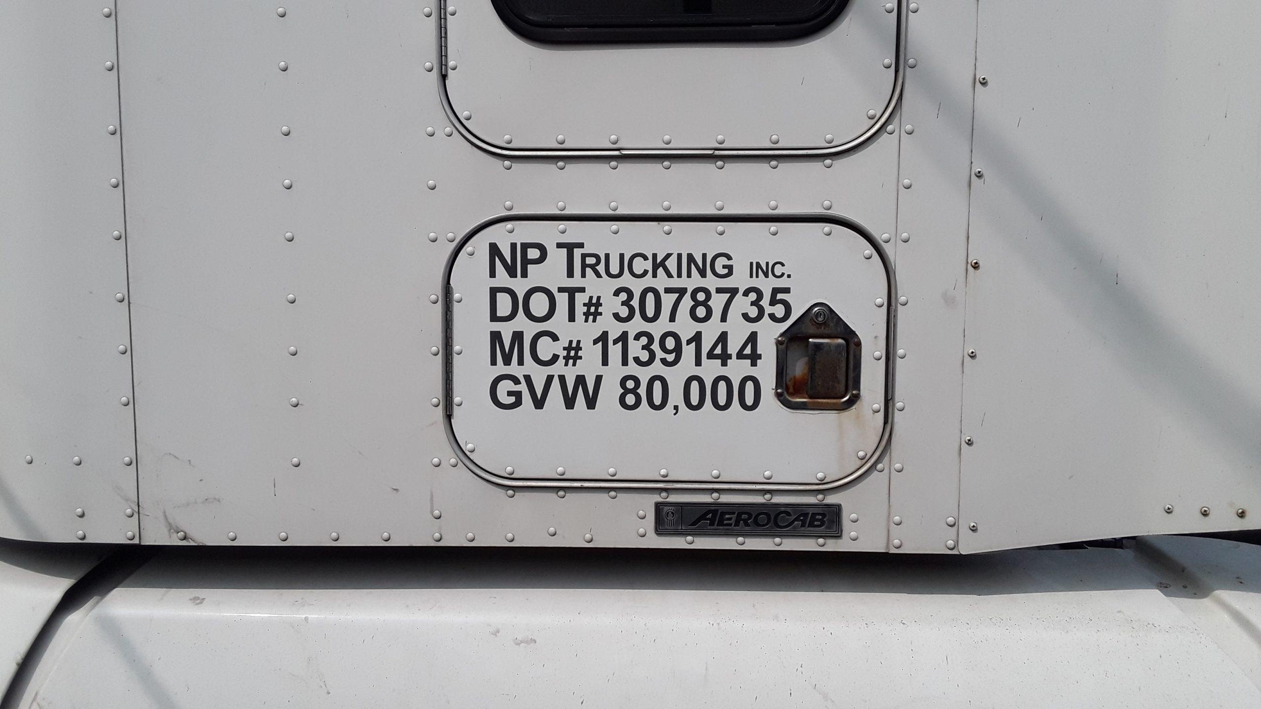 NP Trucking Vinyl